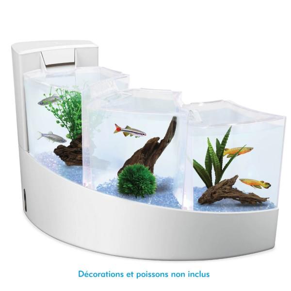 aquarium aqua falls kit complet blanc aqua falls af007319. Black Bedroom Furniture Sets. Home Design Ideas